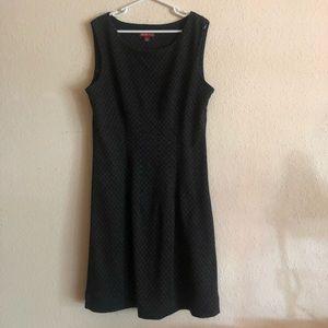 Black merona plaid dress